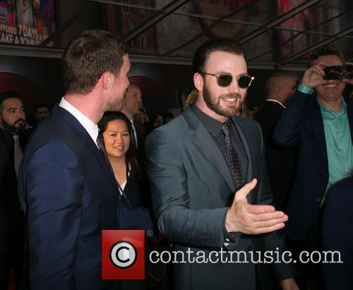 Ed Skrein and Chris Evans 10