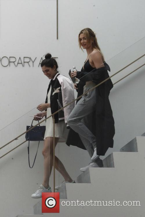 Hailey Baldwin shopping with a friend in West...