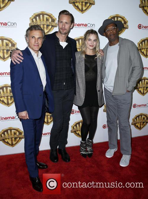 Christophe Waltz, Alexander Skarsgard, Margot Robbie and Samuel L Jackson 1