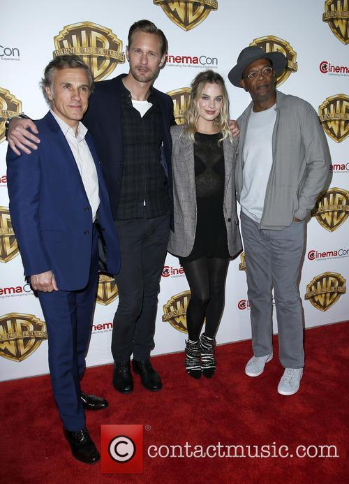 Christophe Waltz, Alexander Skarsgard, Margot Robbie and Samuel L Jackson 2