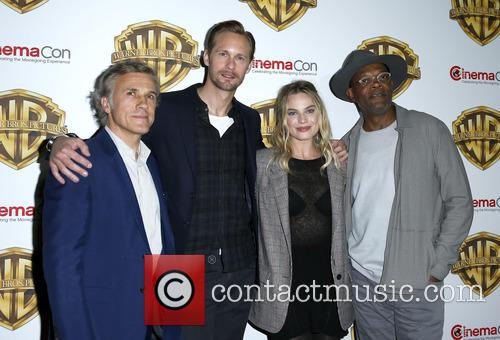Christophe Waltz, Alexander Skarsgard, Margot Robbie and Samuel L Jackson 3