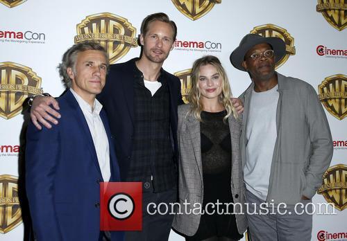 Christophe Waltz, Alexander Skarsgard, Margot Robbie and Samuel L Jackson 4