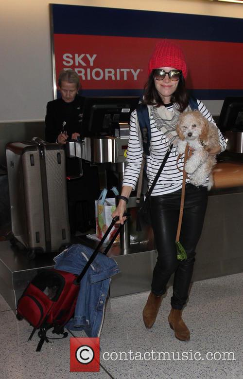 Abigail Spencer at Los Angeles International Airport (LAX)