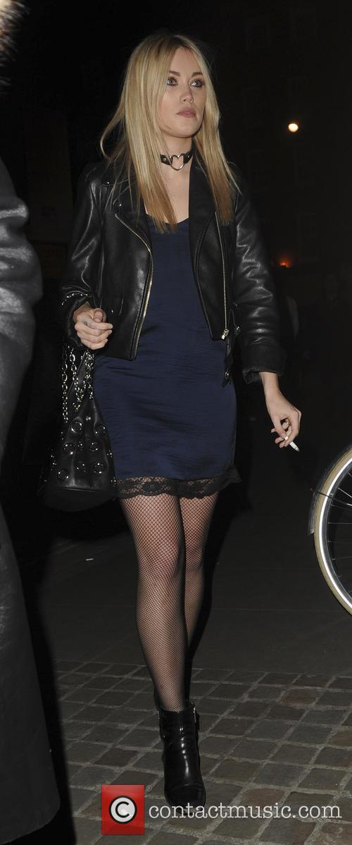 Betty Bachs Seen arriving at Chiltern Firehouse