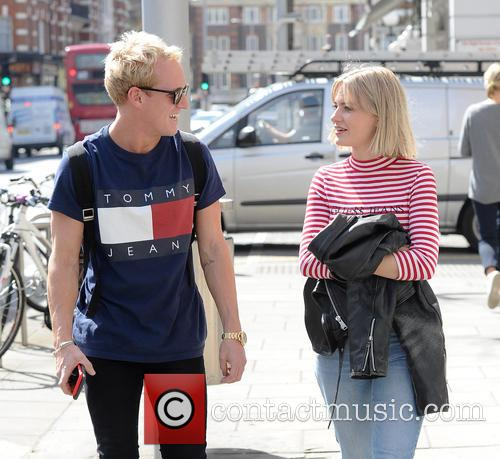 Jamie Laing walking on Kings Road in Chelsea...