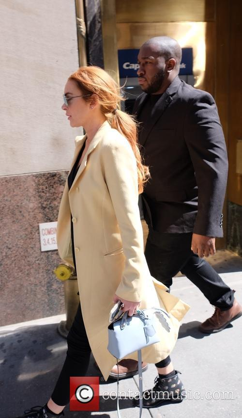 Lindsay Lohan out and about in New York...