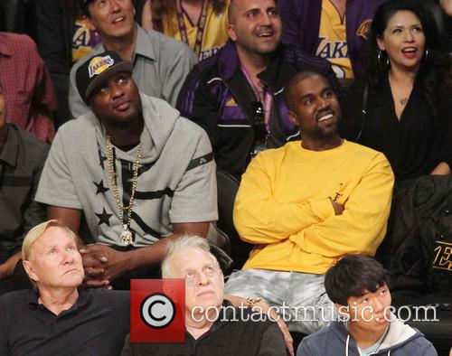 Kanye West and Lamar Odom 2