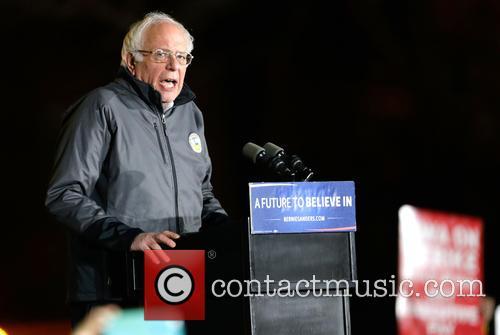 Bernie Sanders rally in Washington Square Park, New...