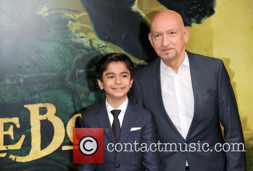 Neel Sethi and Sir Ben Kingsley 2