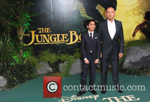 Neel Sethi and Sir Ben Kingsley 3