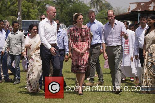 Duke and Duchess of Cambridge visit an elephant...