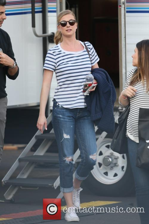 Emily VanCamp seen leaving the ABC studios