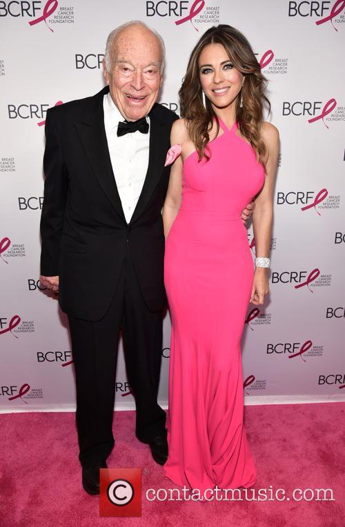 Leonard Lauder and Elizabeth Hurley 1