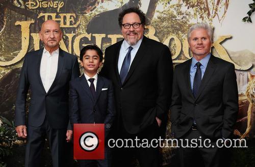 Ben Kingsley, Neel Sethi, Jon Favreau and Brigham Taylor 4