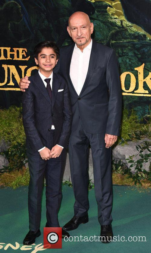 Neel Sethi and Sir Ben Kingsley 5