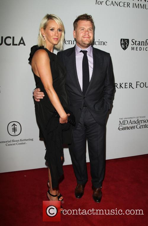 James Corden and Wife Julia Carey 2