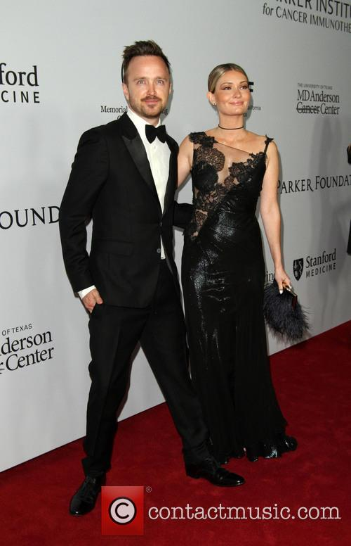 Aaron Paul and Wife Lauren Parsekian 1
