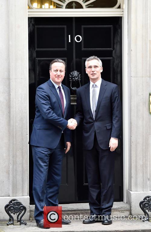 David Cameron and Jens Stoltenberg 6