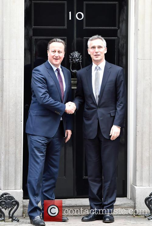 David Cameron and Jens Stoltenberg 8
