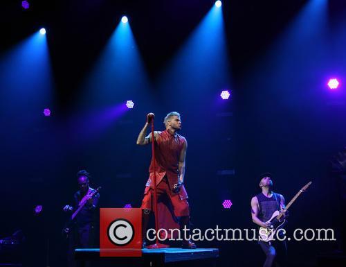 Adam Lambert performing at Eventim Apollo Hammersmith