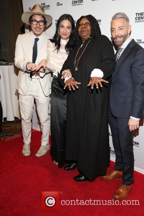 Nick Onken, Stacy London, Whoopi Goldberg and Guest 1