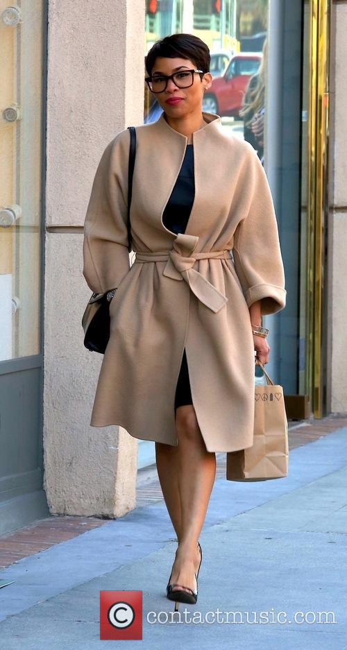 Nia Long out and about on Bedford Drive