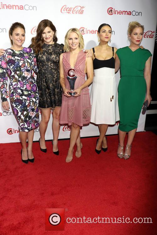 Annie Mumolo, Kathryn Hah, Kristen Bell, Mila Kunis and Christina Applegate 1