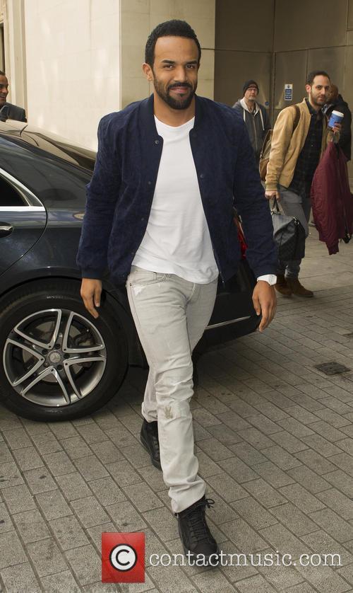 Craig David seen arriving at BBC Radio 1...