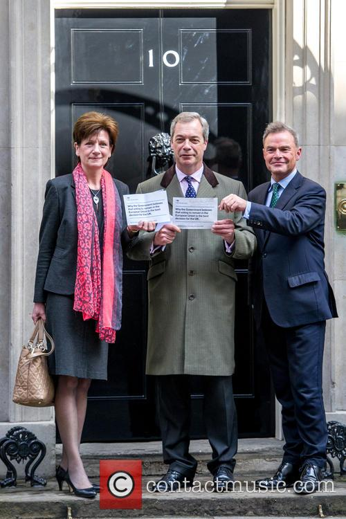 From Left, Diane James Mep, Nigel Farage and Peter Whittle 2
