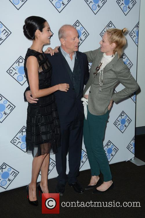 Emma Heming Willis, Bruce Willis and Uma Thurman 1
