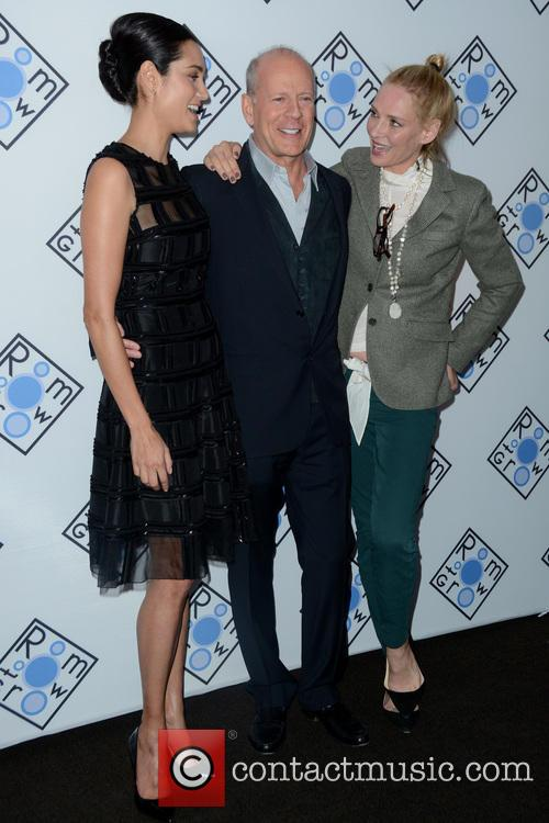 Emma Heming Willis, Bruce Willis and Uma Thurman 3