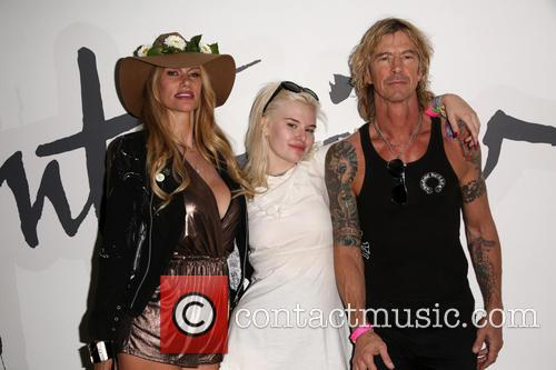 Susan Holmes-mckagan, Grace 'grave' Mckagan and Duff Mckagan 1