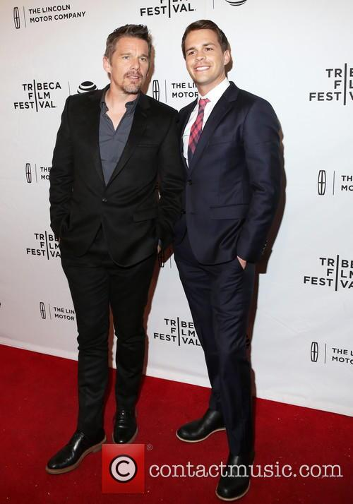 Ethan Hawke and Johnny Simmons 2