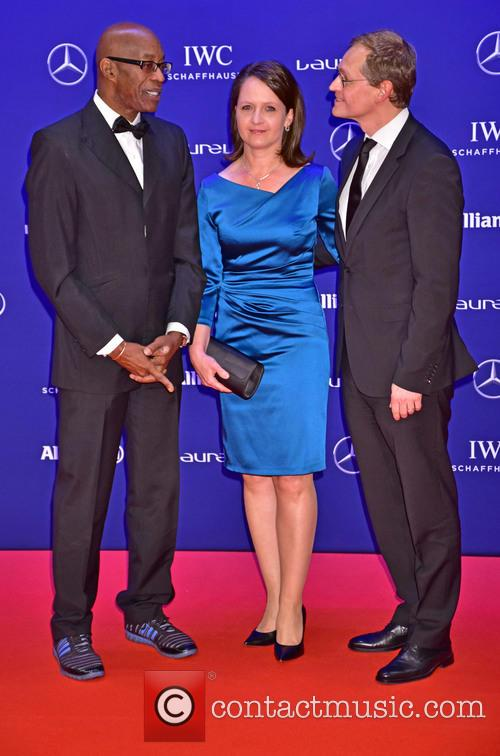 Edwin Moses, Claudia Mueller and Michael Mueller 1