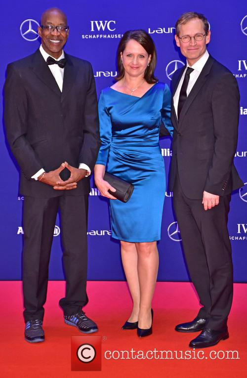 Edwin Moses, Claudia Mueller and Michael Mueller 2