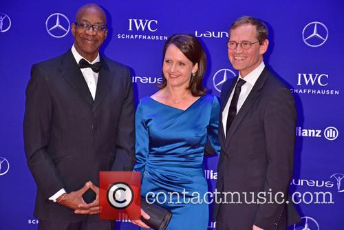 Edwin Moses, Claudia Mueller and Michael Mueller 3