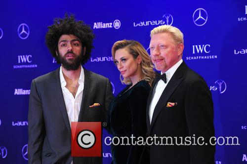Noah Becker, Lilly Becker and Boris Becker 10