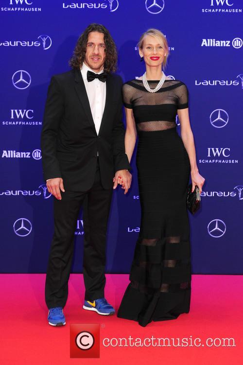Carles Puyol and Vanessa Lorenzo 1