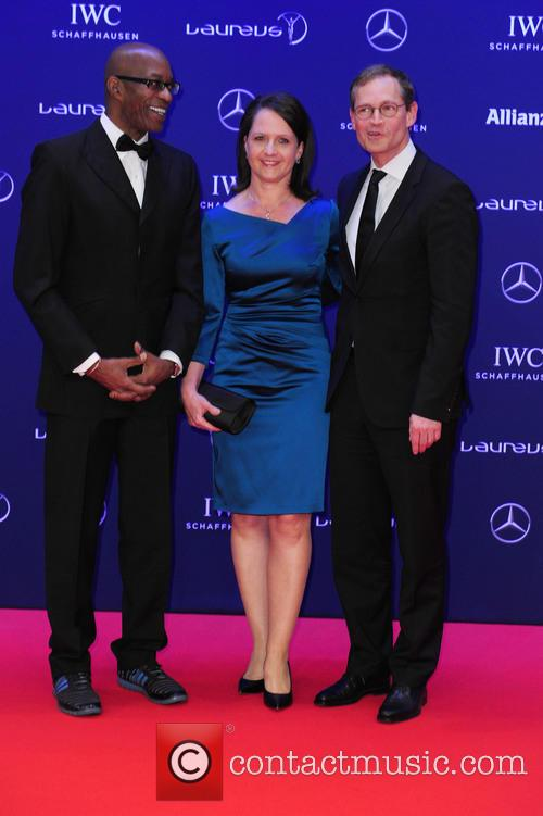 Edwin Moses, Claudia Müller and Michael Müller 4