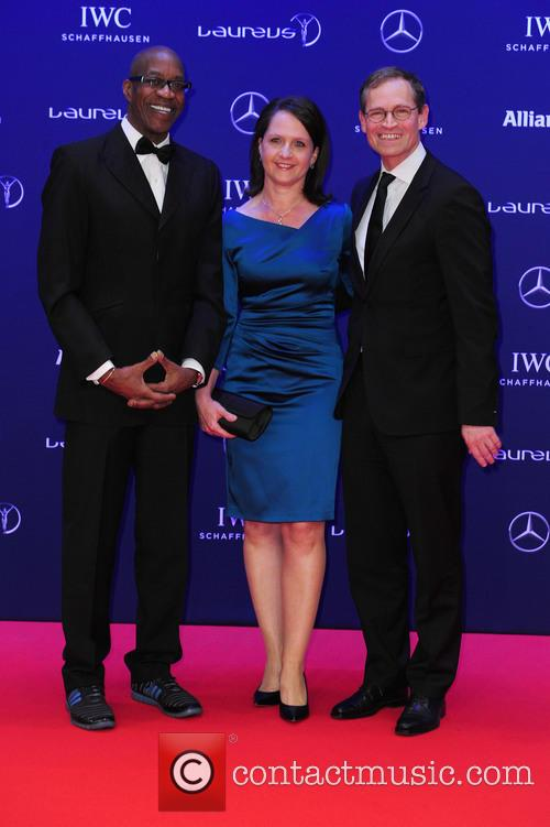 Edwin Moses, Claudia Müller and Michael Müller 5