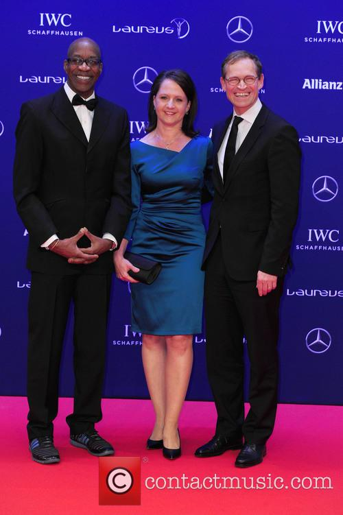 Edwin Moses, Claudia Müller and Michael Müller 6