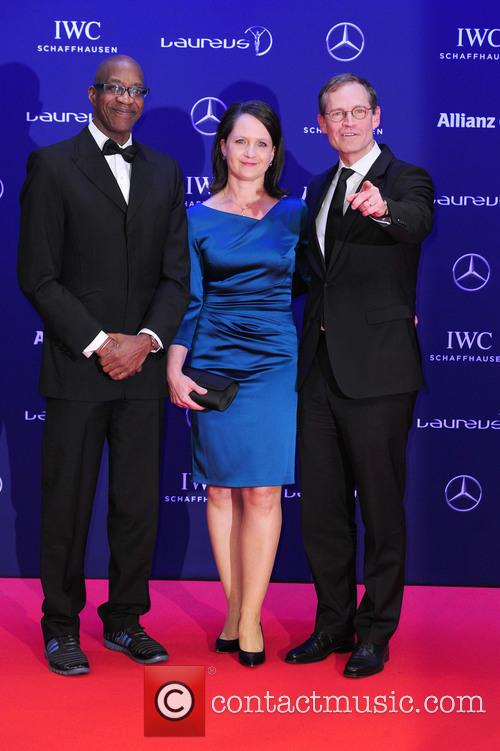 Edwin Moses, Claudia Müller and Michael Müller 7