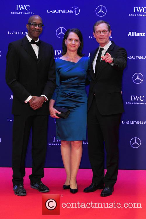 Edwin Moses, Claudia Müller and Michael Müller 8