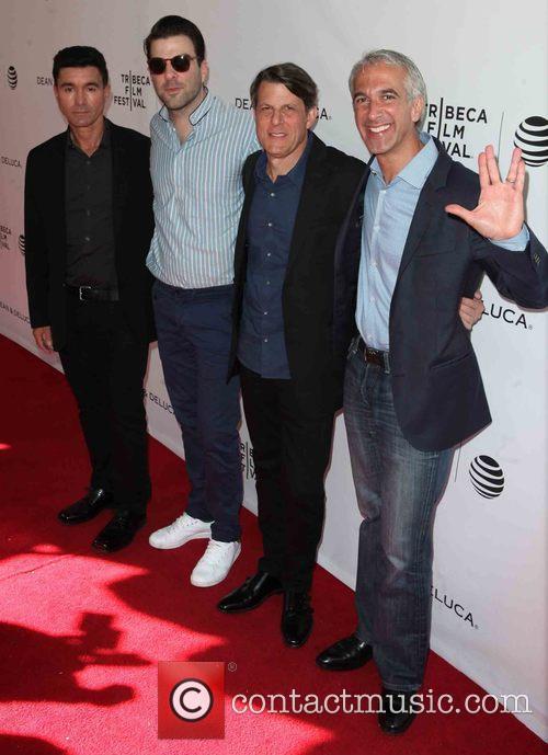 Dave Zappone, Zachary Quinto, Adam Nimoy and Scott Mantz 1
