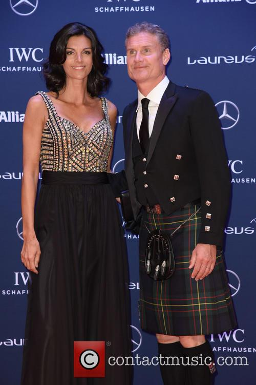 Karen Minier and David Coulthard 6