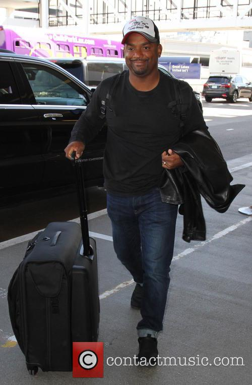 Alfonso Ribeiro arrives at LAX