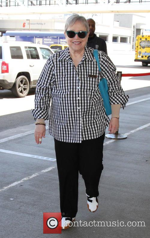 Kathy Bates arrives at LAX
