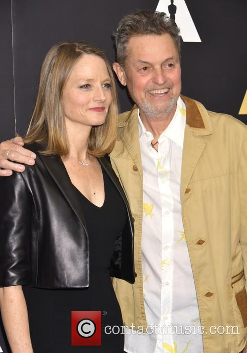 Jonathan Demme pictured with Jodie Foster at a 'Silence of the Lambs' 25th anniversary event