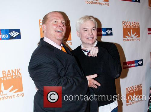 Mario Batali and Mike Myers