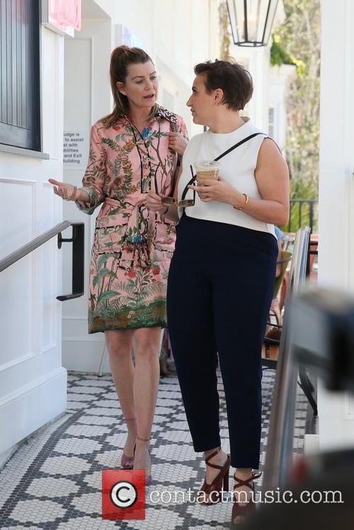Ellen Pompeo and Lena Dunham 4